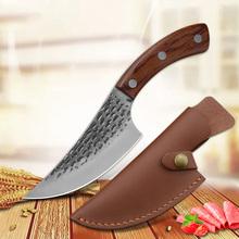 5 5 #8222 serbski nóż szefa kuchni ręcznie kute nóż myśliwski nóż kuchenny ze stali nierdzewnej tasak do mięsa odkostnianie nóż rzeźnicki tanie tanio CN (pochodzenie) STAINLESS STEEL Ekologiczne Zaopatrzony AE7-LJH-021A Ce ue Lfgb Trybowanie noże Handmade Cleaver Boning Chef Knife