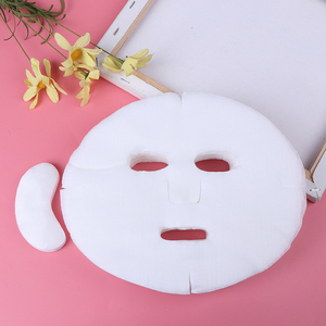 Image 2 - 100/200pcs New Disposable Face Mask DIY Soft Non toxic Pure Facemask Sheet Beauty Tools Breathable Cotton Face Mask Sheet Paper