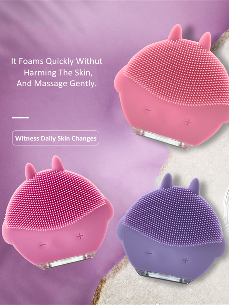 Beauty-Machine Face-Cleanser Facial-Massager Silicone-Brush Deep-Pores Skin Mini Waterproof