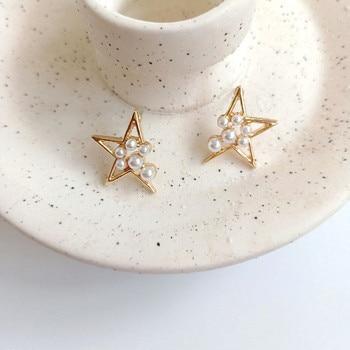 Irregular Star Stud Earrings Jewelry Pearl Jewelry