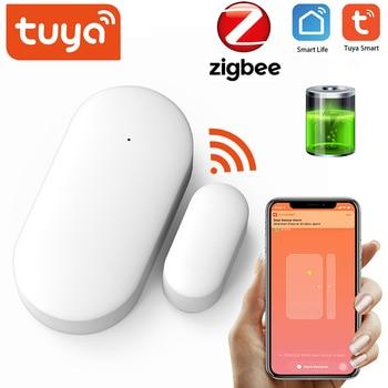 Tuya ZigBee Smart Door Sensor Intelligent Linkage Security Alarm Wireless Window Detector Support / Life APP - discount item  42% OFF Security Alarm