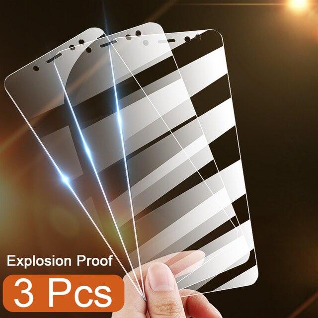 Protecteur décran 3 pièces en verre trempé pour Xiaomi Redmi Note 5 7 8 6 Pro 5A 6 pour Redmi 5 Plus 5A 6A Film de protection en verre complet
