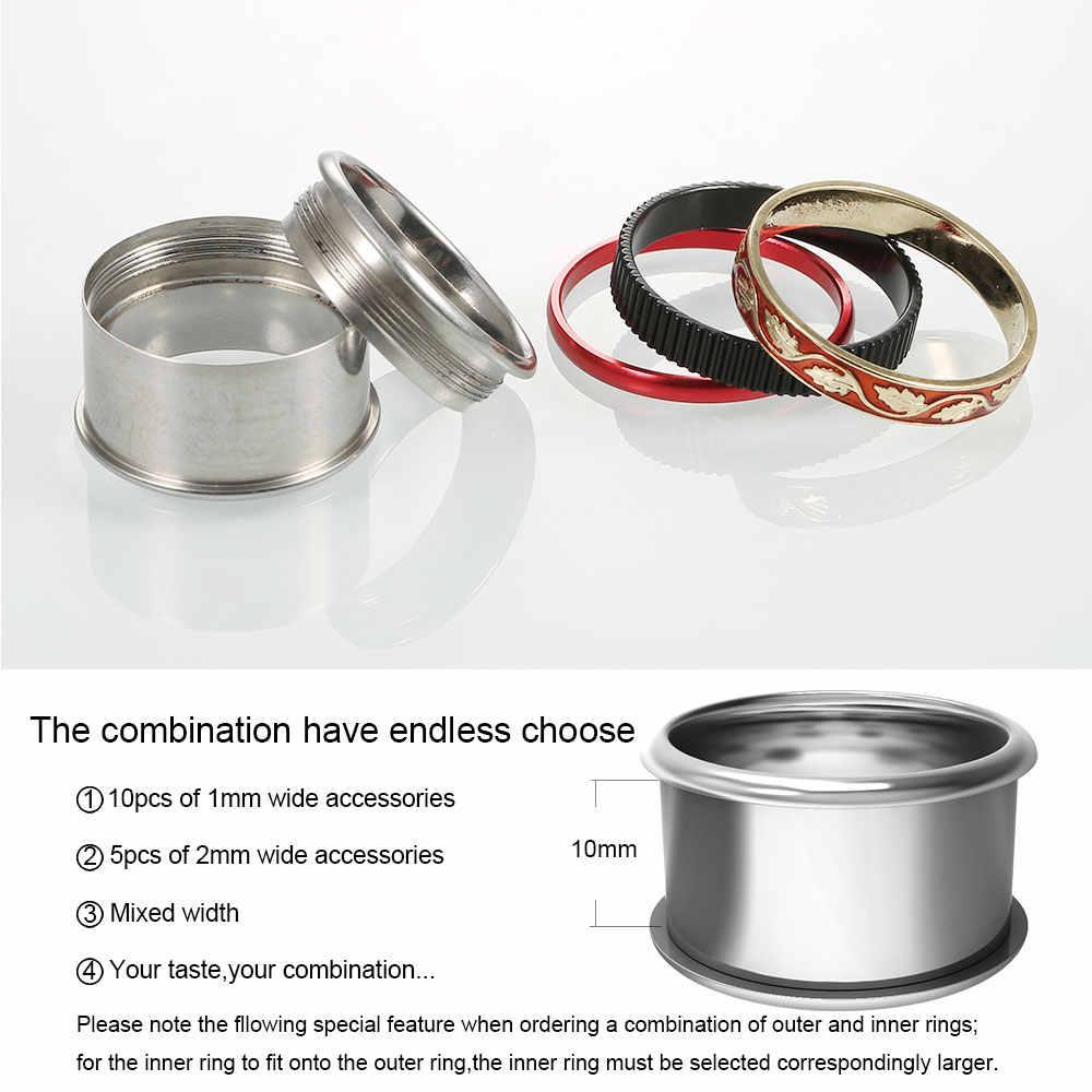 Floya แหวนสีแดงเคลือบไทเทเนี่ยมผู้ชายผู้หญิงแฟชั่นแหวนสแตนเลสสีดำงานแต่งงานวันหยุดของขวัญครบรอบ