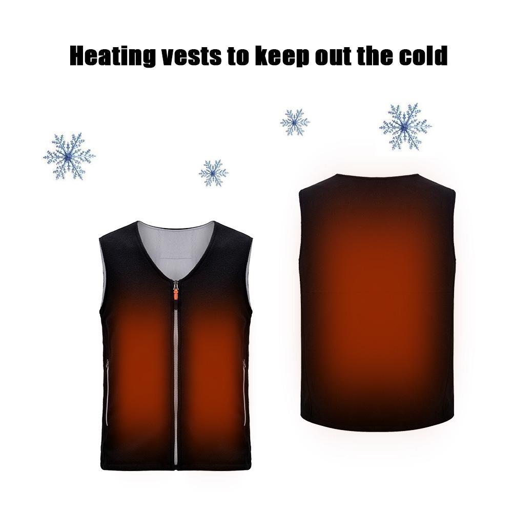 Smart Charging Heating Vest Warm Heating Cotton Vest Jacket Battery Powered Heated Rechargeable Sports Outdoors Skiing Skating