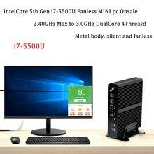 جديد KabyLake إنتل كور i7 7560U/7660U 3.8 GHz بدون مروحة البسيطة PC الميناء البصري 2 * lan إنتل Iris زائد الرسومات 640 DDR4 هيكلى PC