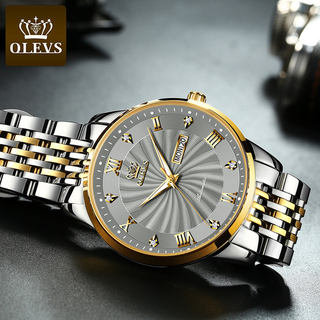 OLEVS Men Mechanical Watch Top Brand Luxury Automatic Watch Sport Stainless Steel Waterproof Watch Men relogio masculino 6530 3