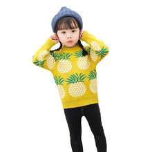 New 2019 Children Baby Boys Girls Sweaters With Pineapple Pattern Girls Sweater Knit Kids Pullover Casual Knitwear Clothing 2-7Y недорого