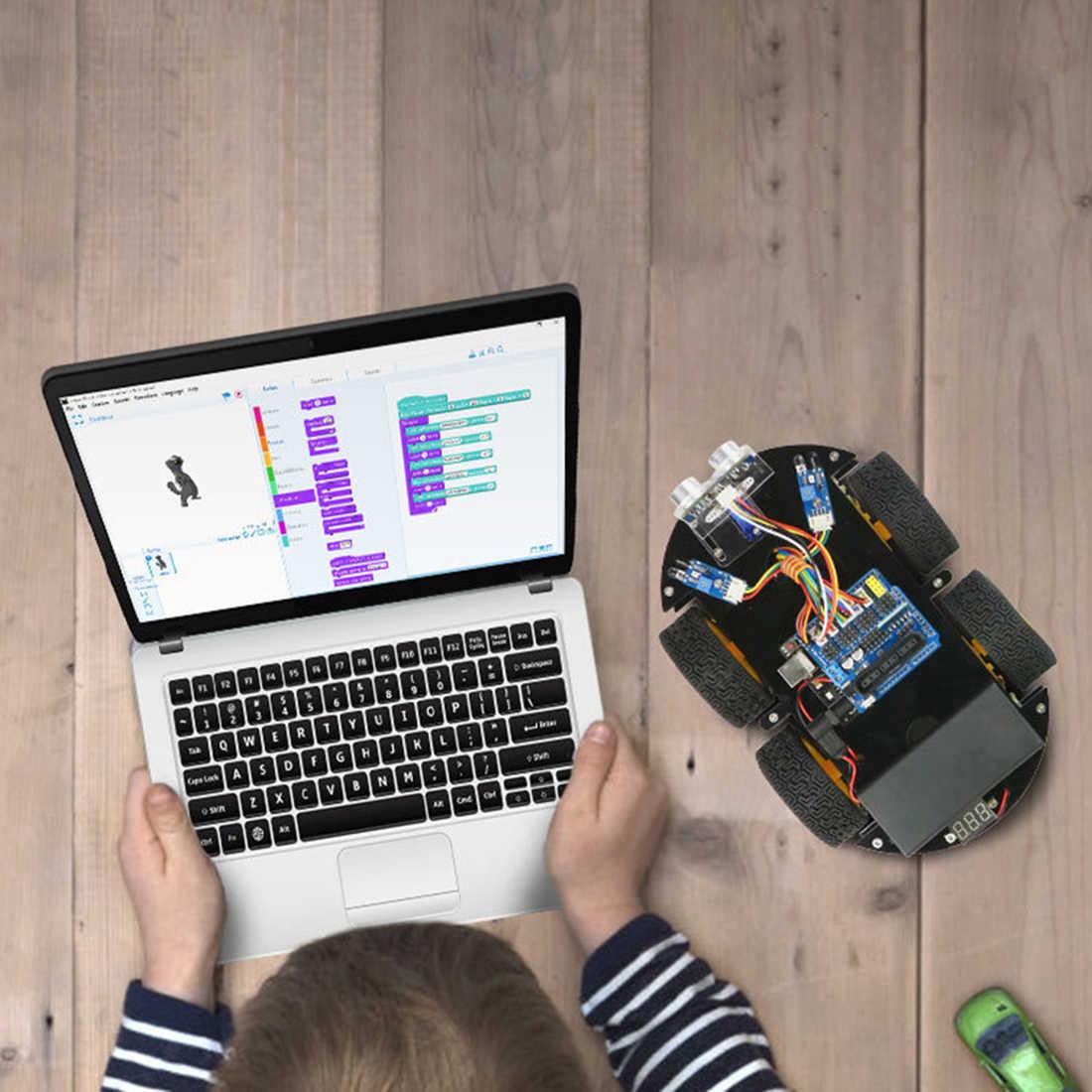 DIY избегание препятствий умный программируемый робот-автомобиль Обучающий набор для BLE UNO интерактивная игра развивающие игрушки подарки