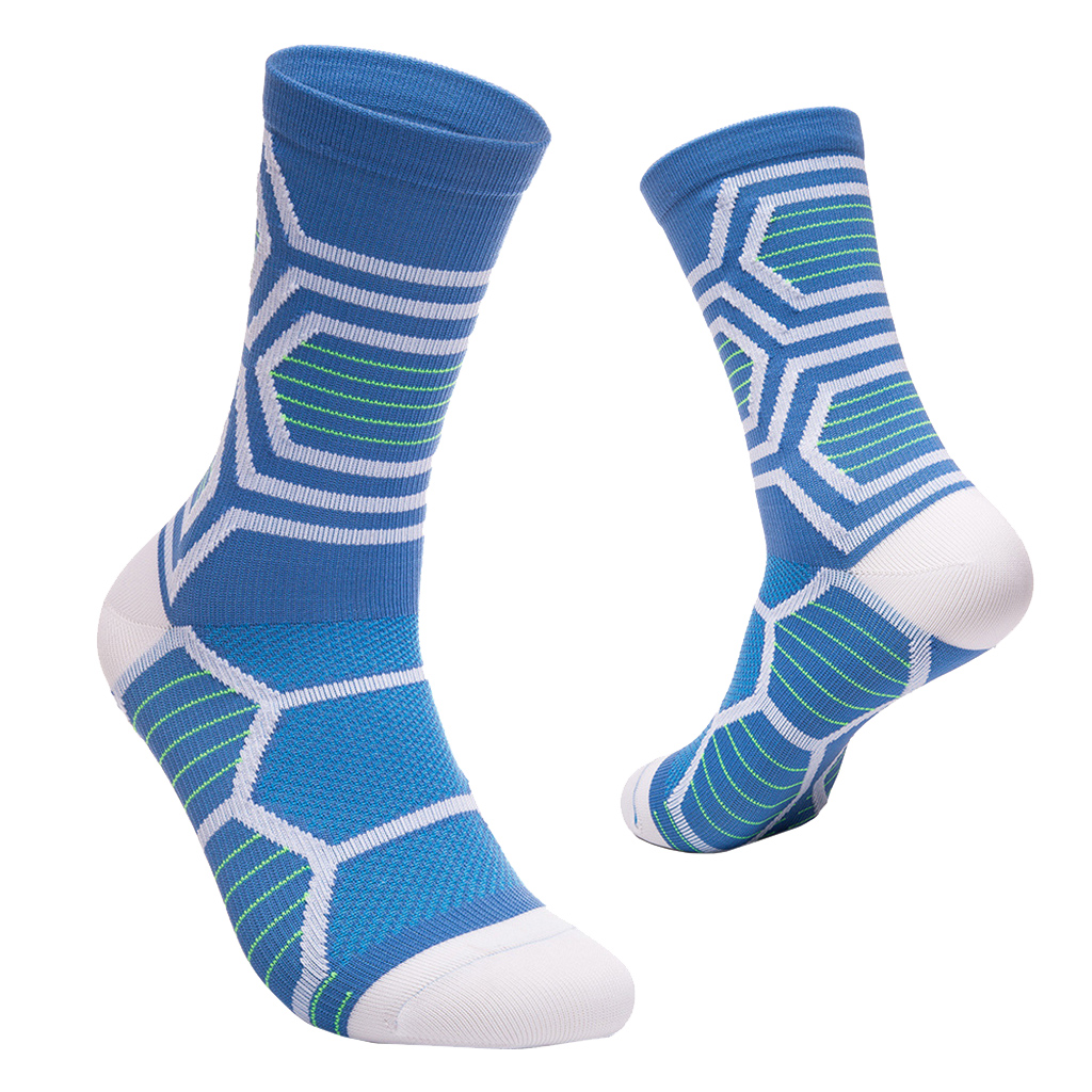 Mid-Calf Socks Breathable Compression Socks for Exercise Running Cycling