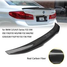 Carbon Fiber Car Rear Spoiler Wing for BMW 2/3/4/5 Series F22 E90 E92 F30/F35 M3/F80 F32 M4/F82 G30/G38 F10/F18 F33 F36 PSM carbon fiber rear trunk wings m4 spoiler for bmw 4 series f36 420i 428i 435i gran coupe 4 door 2013 gloss black spoiler wing