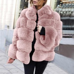 Image 5 - Mode Plus Size Vrouwen Jas Kunstmatige Bont Thermische Vrouwelijke Winter Warm Gewatteerd Jack Dikker Overjas Winddicht Casaco Vrouwelijke