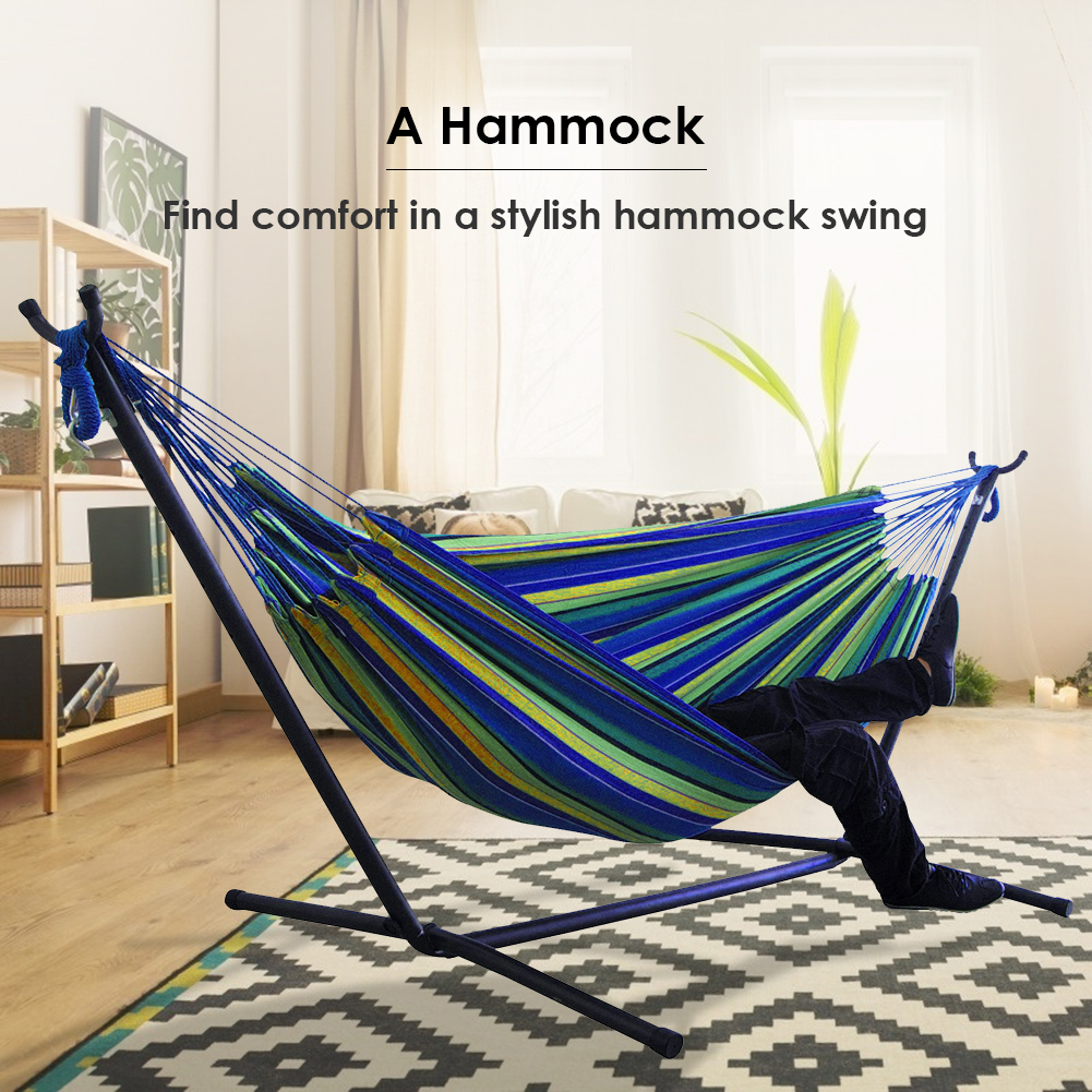 Туристический гамак, практичная холщовая подвесная кровать, многофункциональная Удобная подставка, для пешего туризма, сада, для сна