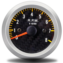 Rpm-Meter Metro Inter Face Tacho-Gauge 0-8000 Auto 52mm 12V Yellow 2-6050 Car Carbon-Fiber