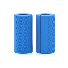 Грипсы для гантелей, штанги для фитнеса, Толстая ручка для жиров, подтягивающая тяжелая атлетика, силиконовая противоскользящая защитная накладка для бодибилдинга