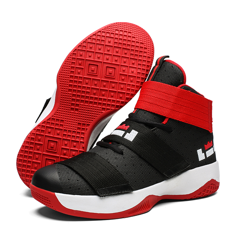 Basketball-Shoes Combat-Boots Lebron Anti-Skid-High-Top James Outdoor Men Breathable title=