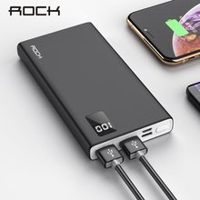 ROCK 10000mAh Power Bank For iPhone Samsung Huawei Type C Po