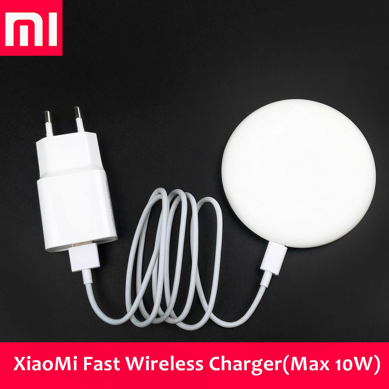 XiaoMi QI kablosuz şarj cihazı orijinal Mi9T Pro 9 Mix 3 2s telefon hızlı  10W akıllı şarj pedi iphone X Xs Xr 8 Mate30 pro P30 pro Kablosuz Şarj  Cihazları