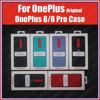 Cyan Official sealed Oneplus 8 Pro Case Original IN2020 Carbon Bumper Oneplus 8 Case IN2010 Clear Sandstone Carbon Nylon Cover