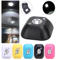 10pcs LED Sensor Night Light PIR Infrared Motion Activated Sensor Lamp Battery Powered Wall Lamp Cabinet Stairs Light