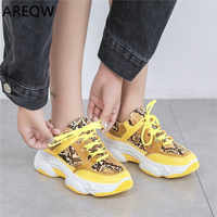 2020 New White Women Sneakers Fashion Thick Bottom Womens Platform Sneakers Casual Shoes Zapatos De Mujer Chunky Sneakers