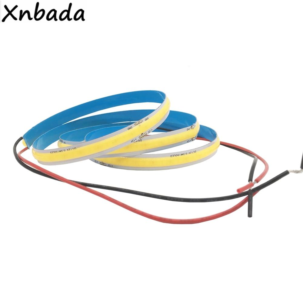 High Density COB/FOB Led Flexible Strip Light, 14W/M RA80 White/Nature White/Warm White/Yellow/Red/Blue/Green IP30 DC12/24V