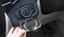 цена на Lapetus Car Styling Head Light Lamp Switch Button Frame Cover Trim Fit For Ford Explorer 2011 2012 2013 2014 Stainless Steel