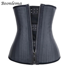 Beonlema 25 강철 뼈 허리 트레이너 위 슬리밍 벨트 모델링 스트랩 코르셋 라텍스 허리 신서 바디 셰이퍼 Faja Reductora