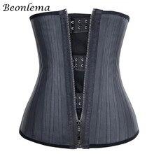 Beonlema 25 الصلب العظام مدرب خصر المعدة حزام تخسيس النمذجة الأشرطة مشد حزام وسط لاتكس محدد شكل الجسم فاجا ريدوتورا