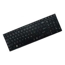 Preto eua teclado do portátil compatível para toshiba p750 p755d p770 p770d p775d