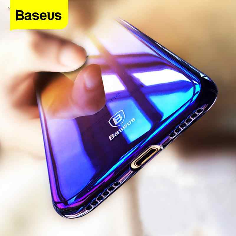 Baseus Phone Case For iPhone 6s Plus Ultra Slim Gradient Hard PC Back Cover For iPhone 6 Plus Coque Fundas