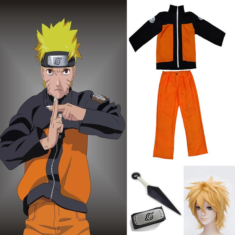 Outfit Costumes Top-Pants Naruto Coat Man-Show-Suits Japanese Adults Cartoon Anime