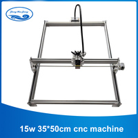 15w Laser Engraver Working Area 35*50cm  For Toy Laser Cutting Machine 15000mw Diy Laser Engraving Machine Mark on Metal|Wood Routers|   -