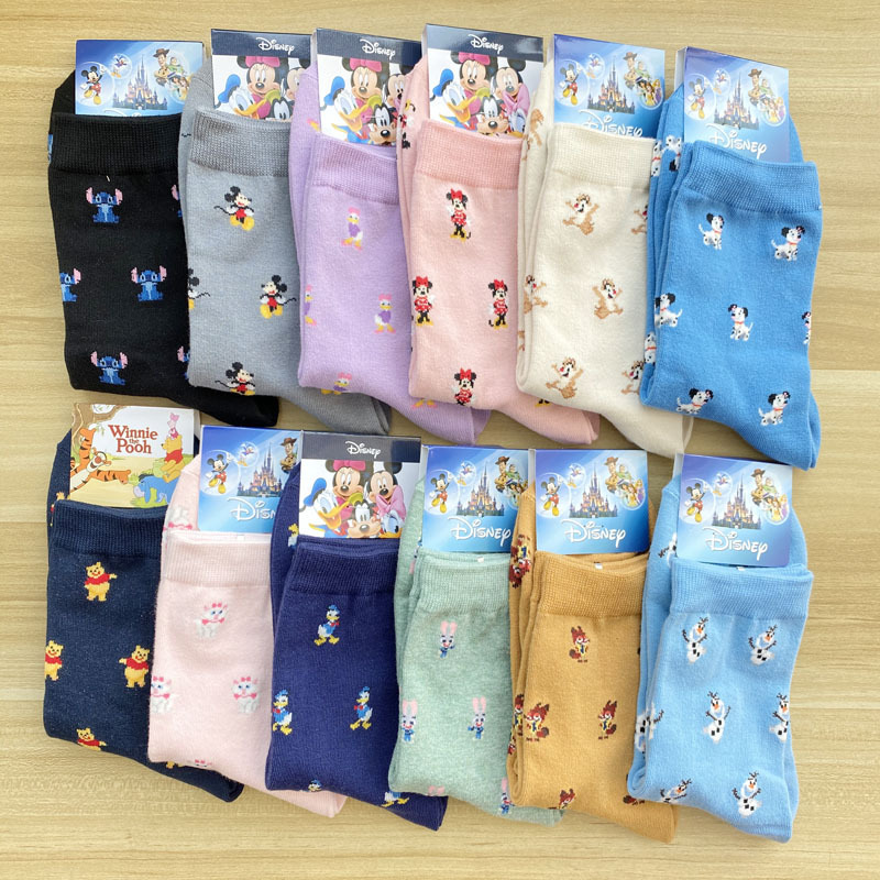 Disney Cartoon Stocks Donald Duck Mickey Sweet Cute Tube Cotton Socks Female Home Fashion Socks
