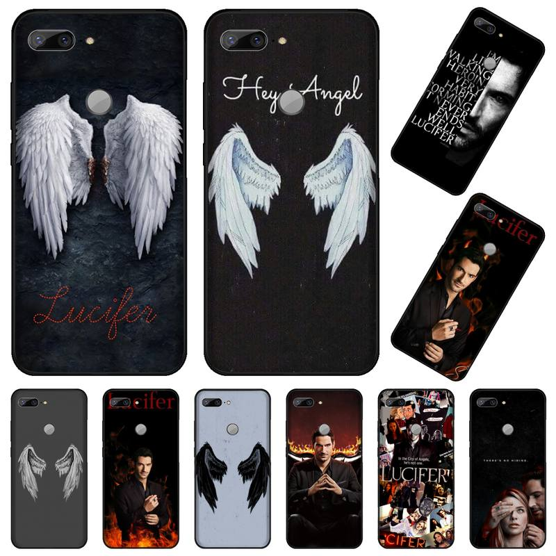 Lucifer wing usa Fantasy TV series Newly Arrived Black Cell Phone Case For Huawei Honor 7C 7A 8X 8A 9 10 10i Lite 20 NOVA 3i 3e image