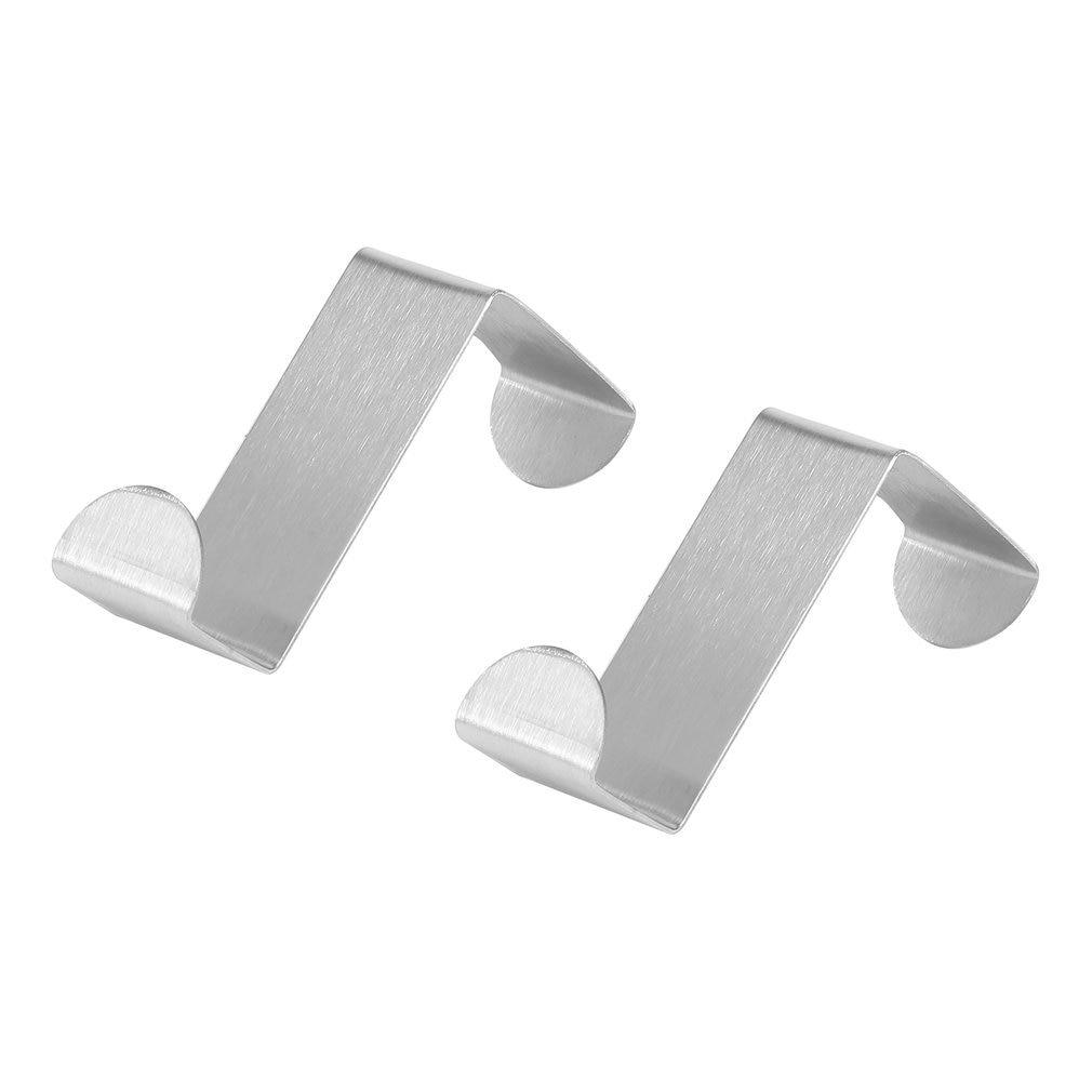 2pcs Stainless Steel Kitchen Cabinet Draw Hooks Kitchen Cabinet Draw Towel Clothes Pothook Clothes Hanger Holder