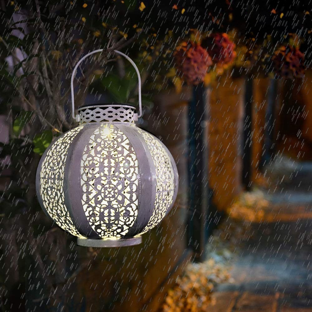 LED Solar Light Outdoors Lantern Solar Lamp Retro Hanging Lights Garden Decoration Yard Lawn Lighting