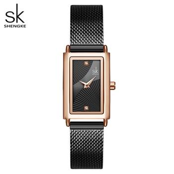 Shengke Women Watches Fashion Geneva Designer Ladies Watch Luxury Brand Rectangle Quartz Wrist Gifts For - discount item  92% OFF Women's Watches