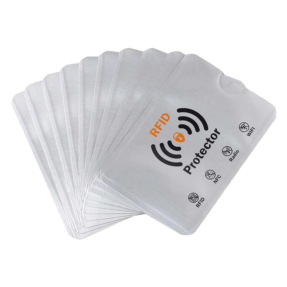 10 個スマート抗盗難 Rfid 財布ブロッキングカードプロテクタースリーブを防止するために、不正なスキャンアルミカードホルダー