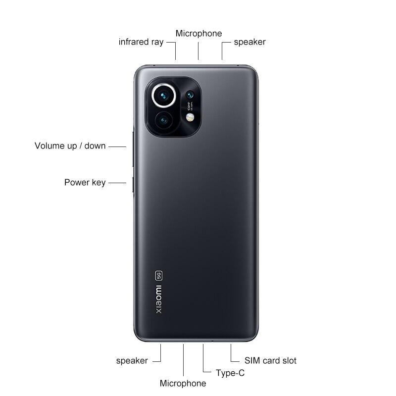 ¡¾World Premiere¡¿Global Version Xiaomi Mi 11 Smartphone 8GB RAM 128GB ROM Snapdragon 888 Octa Core 55W Fast Charge 120Hz AMOLED