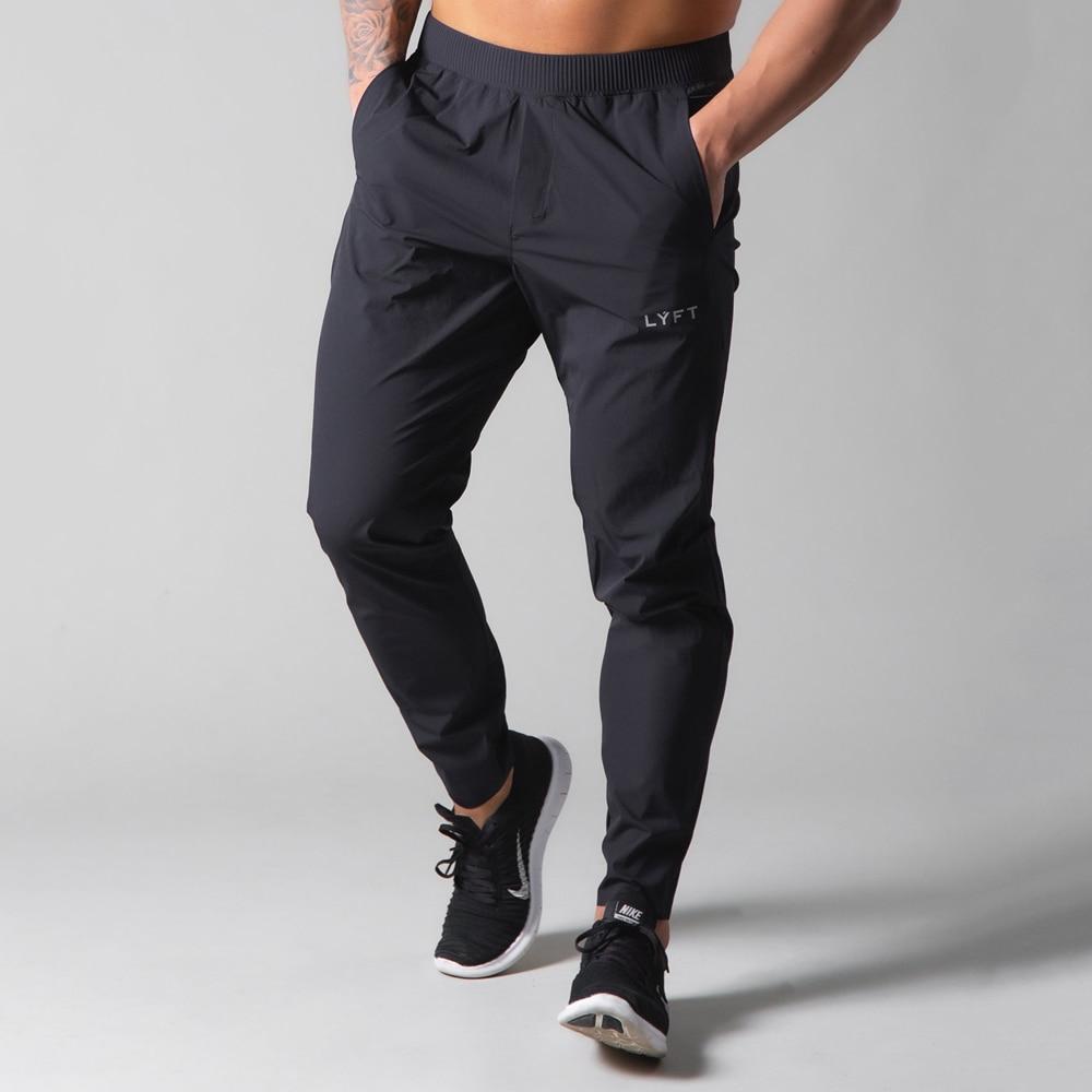 Брюки мужские спортивные быстросохнущие, Джоггеры для бега, спортивные штаны для спортзала, фитнеса, Тонкие штаны для тренировок, черные, на...