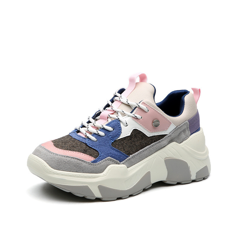 2020 Casual Breathable White Vulcanize Basket Femme Sneakers Platform Tenis Feminino Spring Autumn Female Shoes E11-60