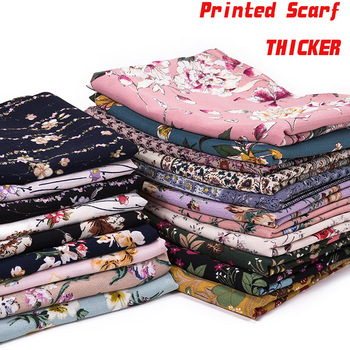 New Printing Bubble Chiffon Hijab Scarf Design Flower Shawls Muslim Scarves Headscarf Wraps Turbans Long