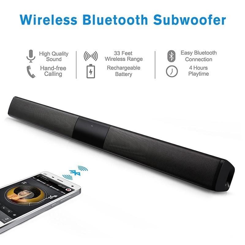 VTIN BS28B Wireless Bluetooth Soundbar Speaker TV Home Theater Soundbar Subwoofer with RCA 3D Stereo Surround Sound Speaker (27)