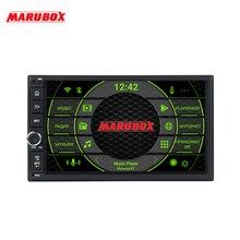 """MARUBOX Универсальный 2Din автомобильный радиоприемник Android 9,0 706PX5 DSP 4 Гб ОЗУ 64 Гб ПЗУ """" Навигационная система, стереомагнитола GPS; Мультимедийный проигрыватель интеллектуальная система"""