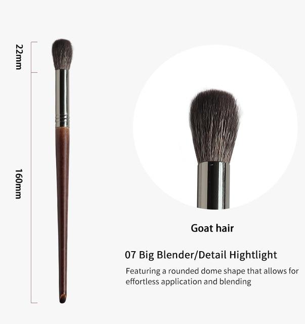 OVW Professional Goat Hair kisti dlya makiyazha Makeup Brushes Unicorn Sets Tarpered Blending Smudge Shader 3