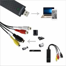 Portable Easy-To-Cap Usb2.0 Audio Video Capture Card Adapter Vhs To Dvd Converter For Win7 / 8 / Xp / Vista easier cap usb 2 0 rca av s video cvbs audio video easier cap vhs to dvd converter capture card adapte for windows xp 7 8 for pc