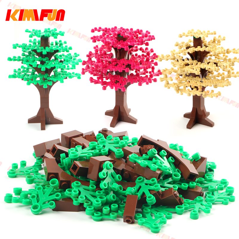 Tree Green Bush Home Plants DIY Garden Building Blocks Toy Botany City MOC Accessories Parts Brick Compatible With Legoing