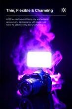 Светодиодный светильник vijim vl120 с софтбоксом и цветными