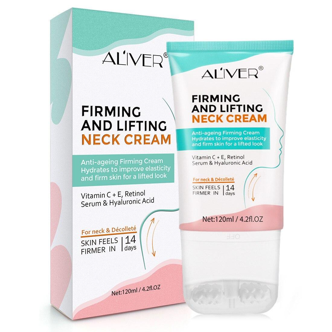 120g Firming Neck Cream V-Type Massager Neck Cream Skin Care Anti WrinkleFade Neckline Wrinkle Lifting Firming Neck Mask