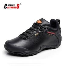 Zapatos de senderismo Unisex de alta calidad para hombre y mujer, calzado deportivo de cuero genuino para deportes al aire libre, de montaña, para otoño e invierno, 2013 5